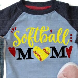 Decal Digital downloads Ball iron on Softball mom Shirt designs Clipart Sublimation designs Love softball Softball svg Heart svg