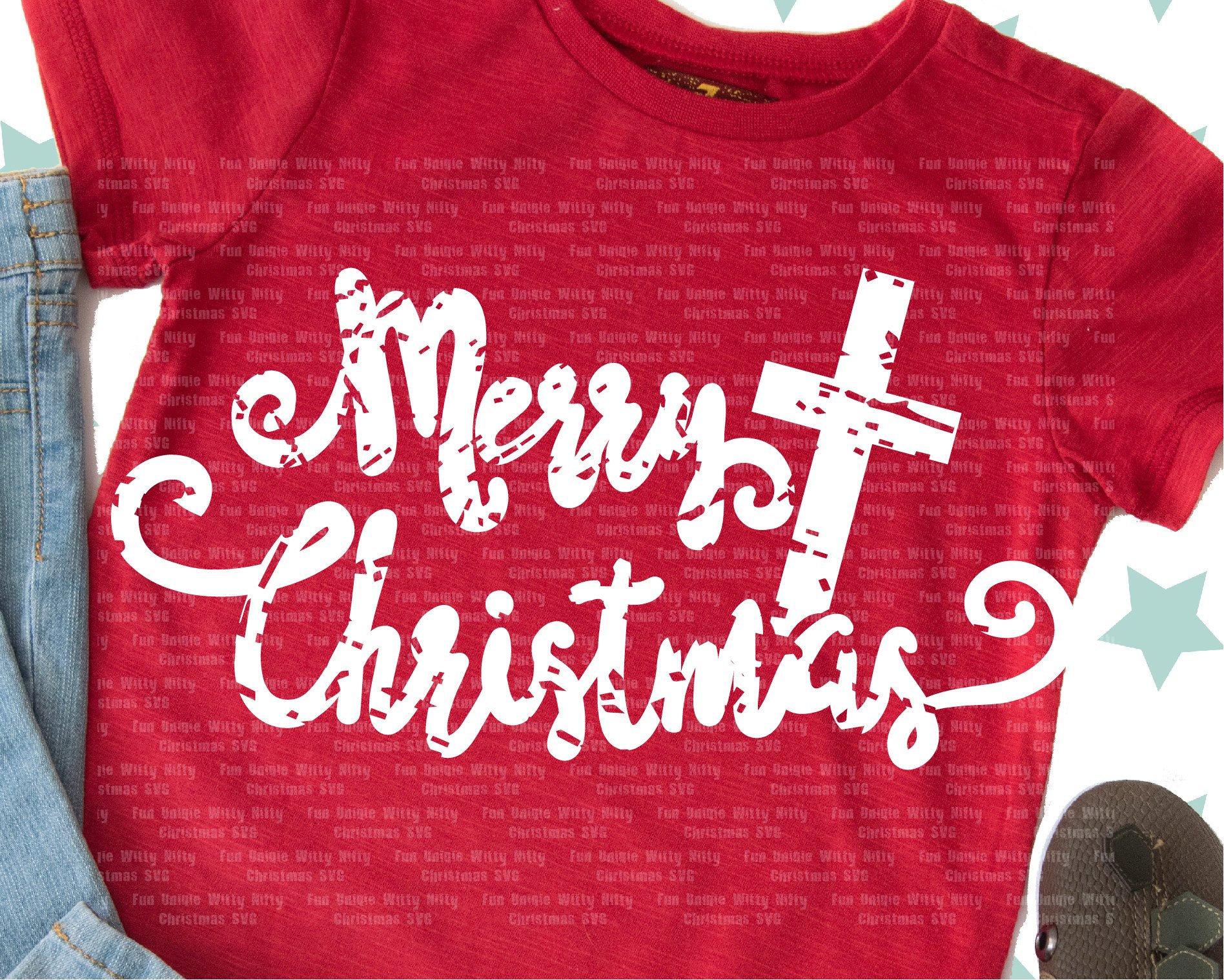 Merry Christmas svg, Spiritual religious Grunge distressed svg files for  cricut, Nativity svg, Cross svg, Iron on transfer, Digital download