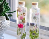 YOU ARE ASPIRING Japanese Style Herbarium Dried flowers in a bottle Meaningful Beautiful Valentine Day Gift for Plant Lady Cute Centrepiece
