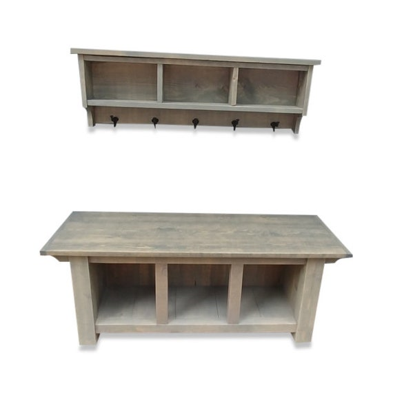 Excellent Farmhouse Cubby Storage Bench And Shelf Cubby Coat Rack Set Ghostwood Grey Pdpeps Interior Chair Design Pdpepsorg