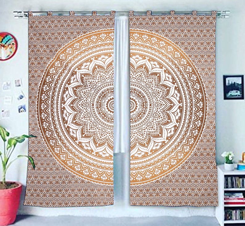 Indian Tapestry Living Room Decor Shower Curtain Balcony Sheer