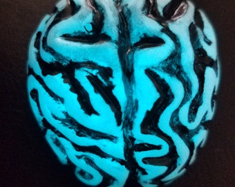 Glow Blue Brains