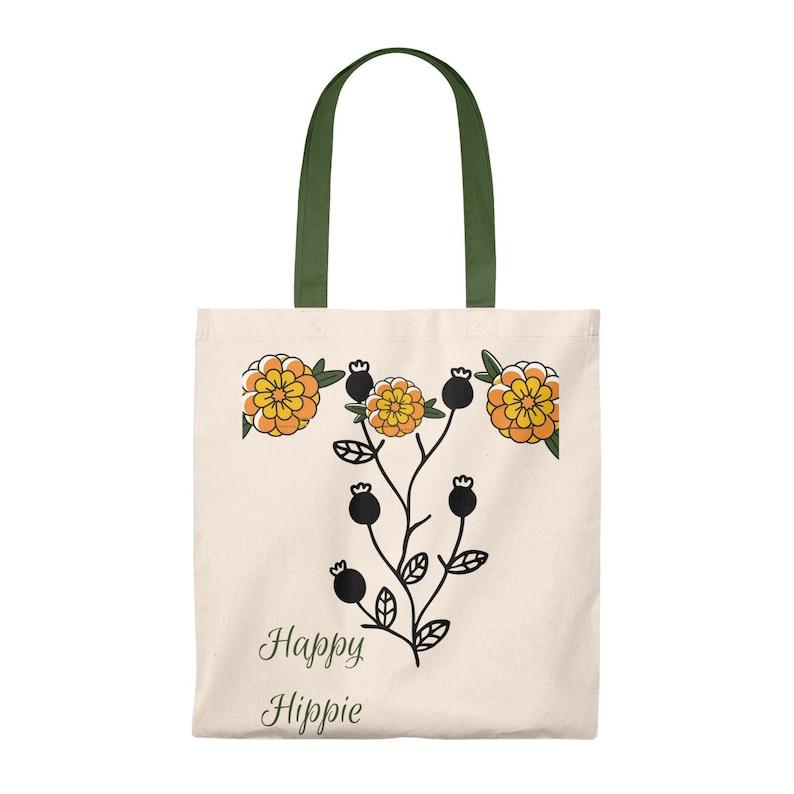 Happy Hippie Tote BagEnvironmental friendly bag