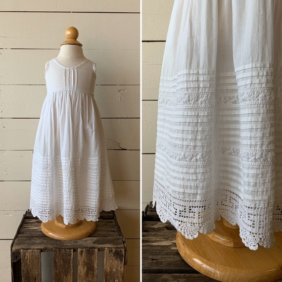 Edwardian Christening Gown | 1880s Cotton Dress |