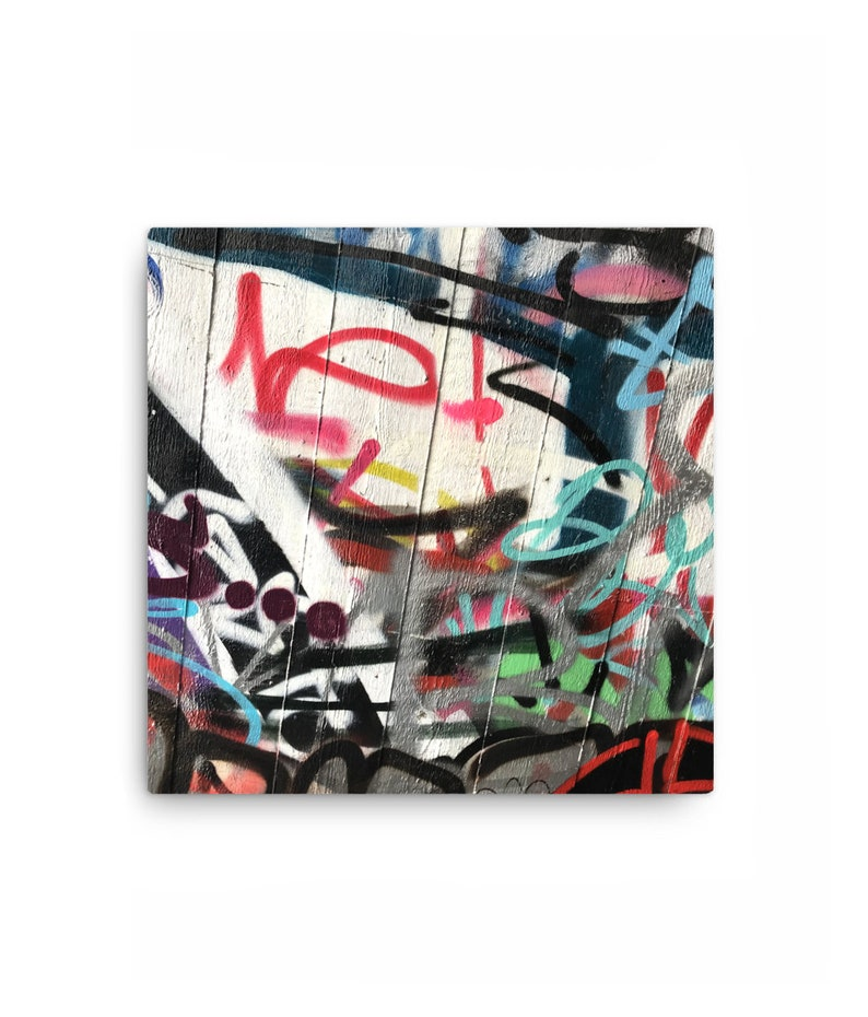 Graffiti 2  12 x 12 Square Canvas image 0