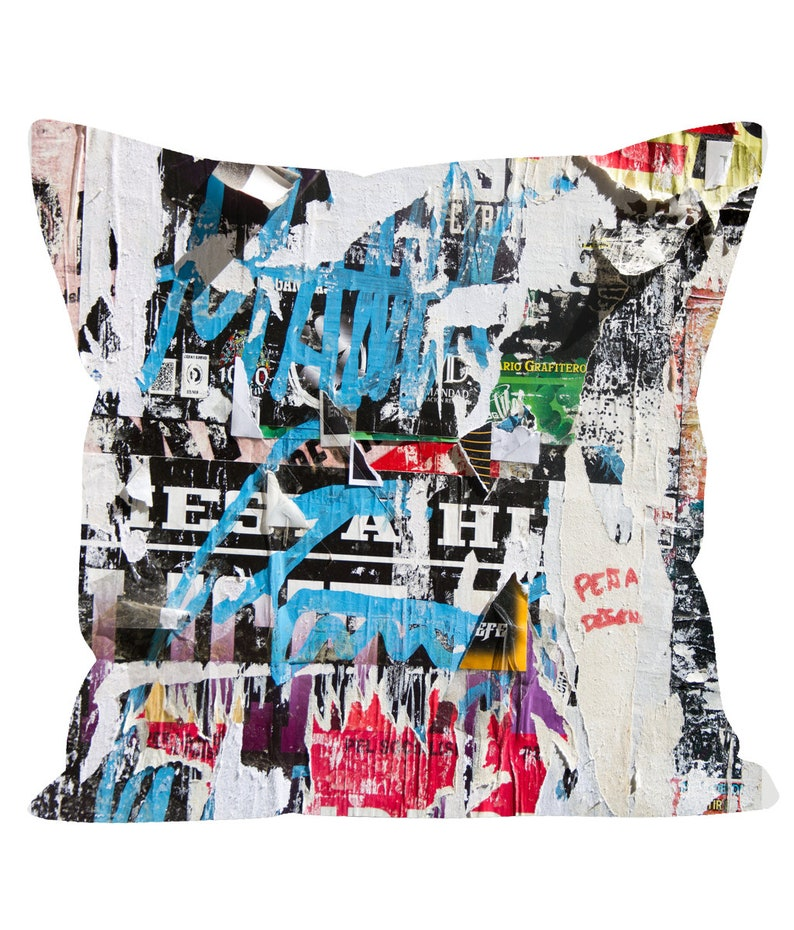 Ripped Posters Pattern Cushions image 0