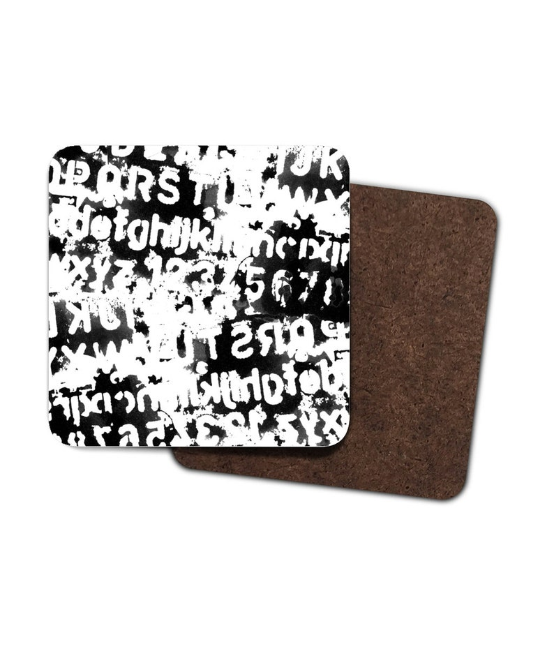 Ink Letter Stencil Coasters image 0