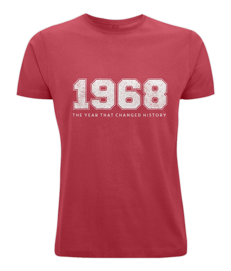 Adult Retro 1968 T-shirt Stereo Red