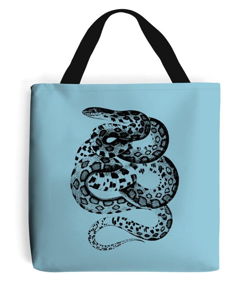 Vintage Fox Snake Tote Bag image 0