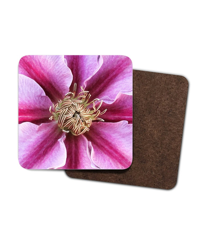 4 x Flower Print Coasters image 0