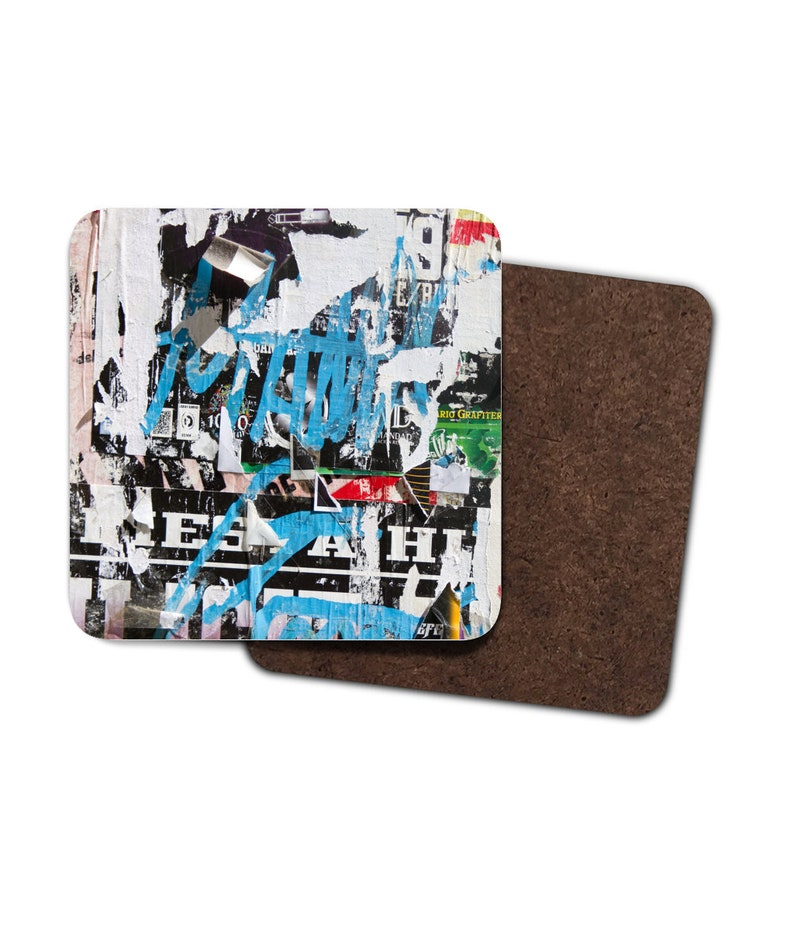Ripped Posters Pattern 4 Pack Hardboard Coasters image 0