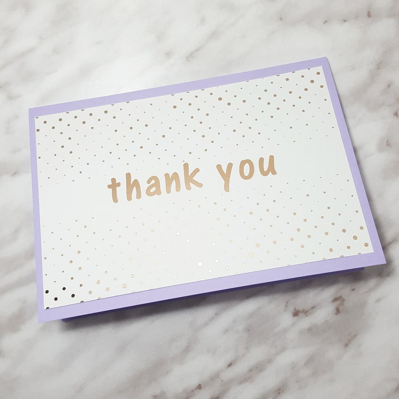 Foiled Thank You Blank Card  4x6 image 0