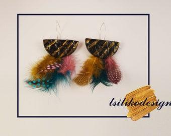 Black & Gold Handmade earrings