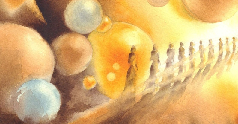 Original watercolor painting print by AnnaRa