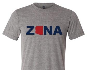 Arizona Wildcat Grey Triblend T Shirt - ZONA