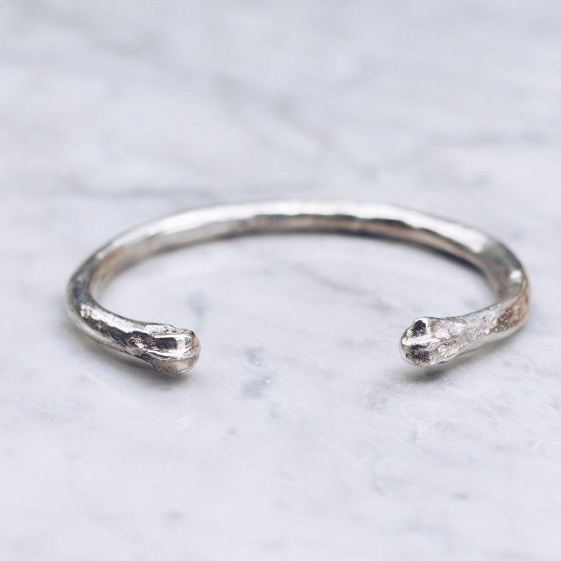 925 Sterling Silver Rustic Bracelet for Men Women Coyote Bone Bracelet Hippie Jewelry Wanderlust Jewelry Boho Bracelet