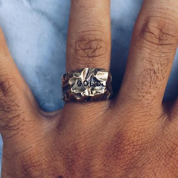 Brass Nugget Ring