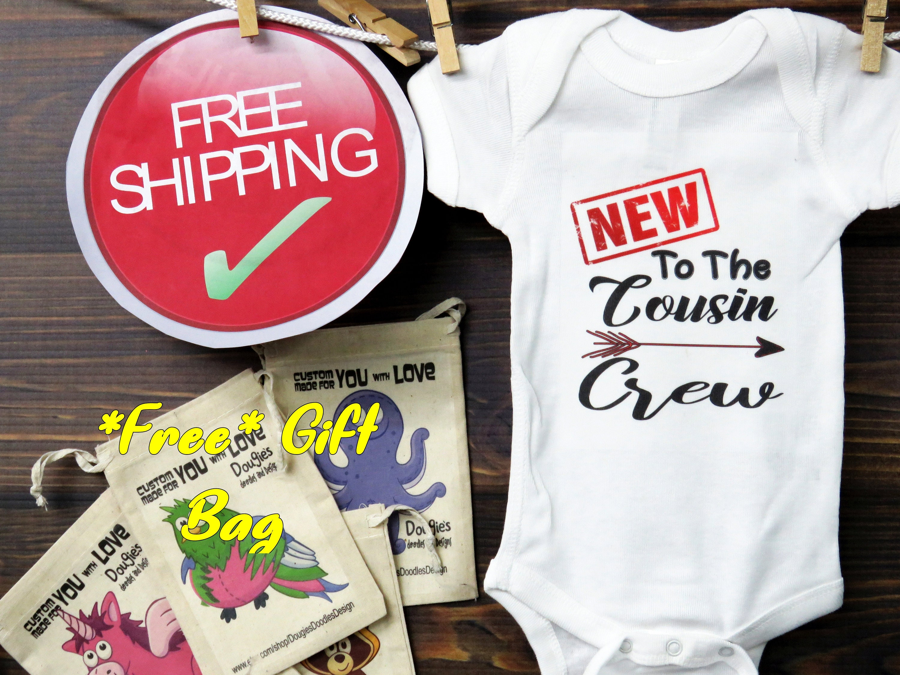 78978c5a5e3db Big cousin shirt Onesies® New to the cousin crew, cousin baby bodysuit,  pregnancy announcement, new cousin, D003