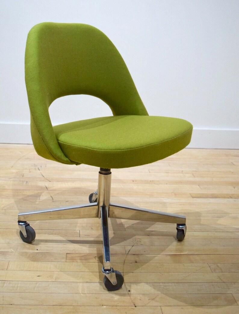 Delicieux Vintage Knoll Eero Saarinen Office Desk Chair W/ New Fabric, Mid Century  Mod MCM