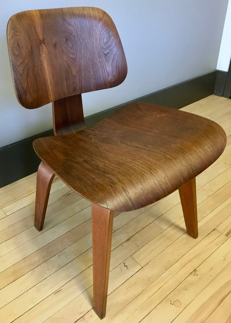 Stupendous Very Early Eames Dcw Chair 5 2 5 With Tag Herman Miller Evans Rosewood Walnut Pabps2019 Chair Design Images Pabps2019Com
