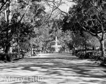 41a198f9111 Long View of Fountain at Forsyth Park in Savannah