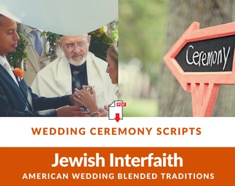 Jewish Interfaith Wedding Ceremony Script l American Wedding with Blended Traditions [16 page PDF Download]