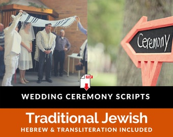 Jewish Wedding Traditional Ceremony [20 page PDF Instant Download]