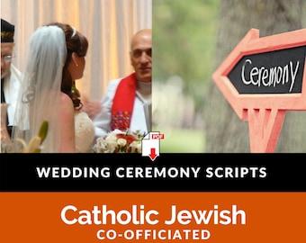 Jewish Interfaith Wedding Ceremony Script l Catholic Jewish Co-officiated [20 page PDF Download]