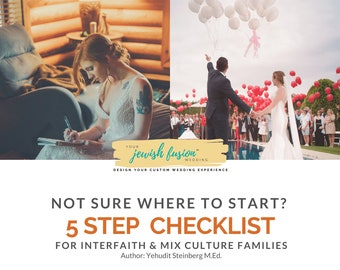 Jewish Interfaith Wedding Get Started Checklist I Just Engaged Planning Tool [Instant PDF Download]