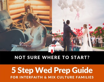 Jewish Interfaith Wedding Prep Planner Non-Traditional Guide Couples Families [Instant Download]