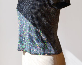 1990s glitter vintage glitter t-shirt