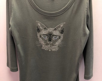 3/4 Sleeve Siamese Cat Shirt