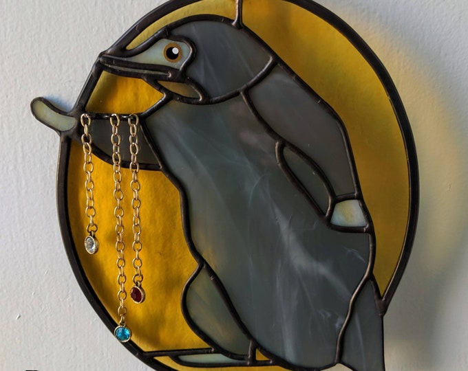 Featured listing image: Niffler Stealing Jewelry Stained Glass Suncatcher