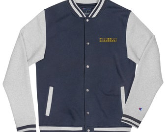 Banner Seal Embroidered Champion Bomber Jacket