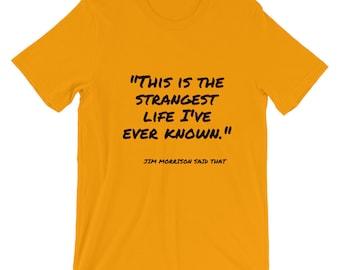 """Jim Morrison """"Strange Life"""" Short-Sleeve T-Shirt"""