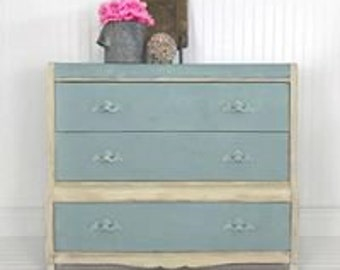 Blue and Cream Dresser