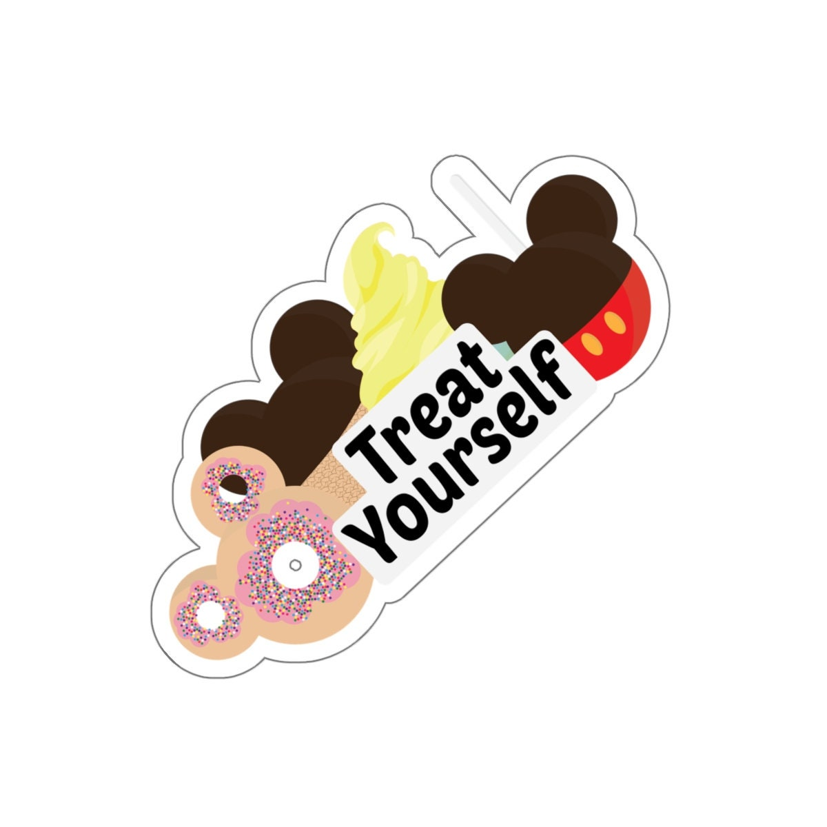 Treat Yourself! Kiss-Cut Sticker