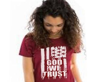 God WeTrust Womens Mens Unisex T shirt