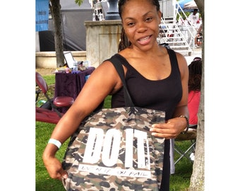 Do It - Even If You Fail Womens Camouflage Handbag / Tote