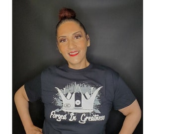 Forged In Greatness Womens Faith Based Tees