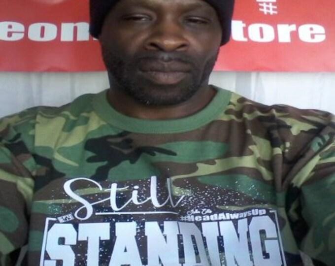 Still Standing Mens  Unisex Camouflage Tshirt