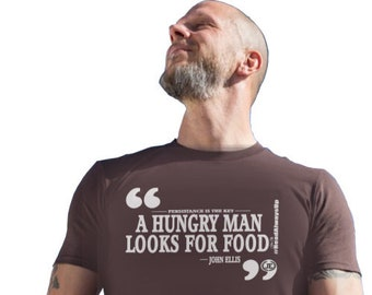 A Hungry Man Looks For Food Mens Christian Tees
