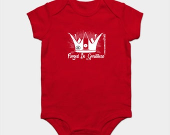 Forged In Greatness Gifts Baby Girls Onesie