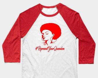 RepresentYourQueendom Women T shirts Gifts Baseball T-Shirt