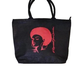 RepresentYourQueendom Womens Big Handbag / Tote Bag w/ Zip