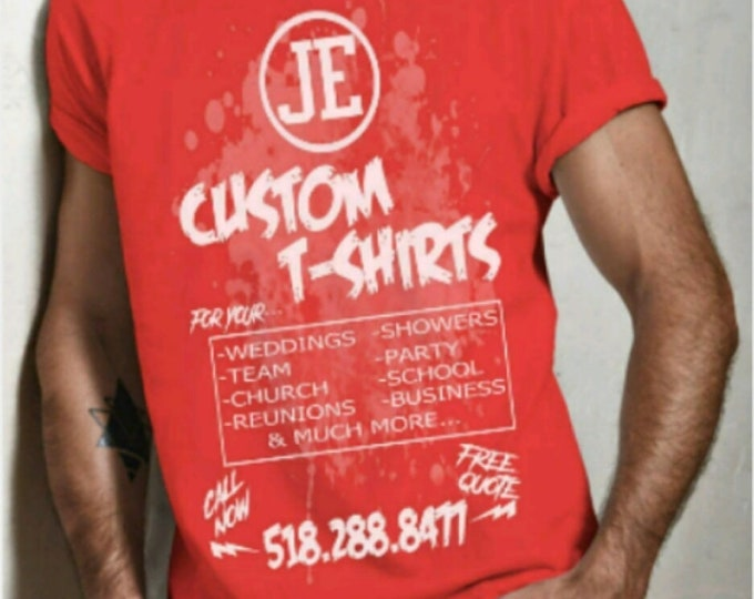 Custom Tshirts - 1 Color (Qty. 50-99)