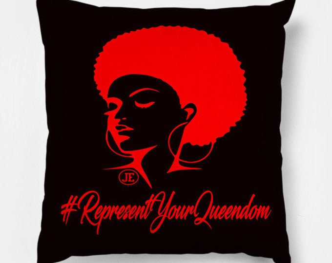ReprsentYourQueendom Women Gifts Throw Pillow