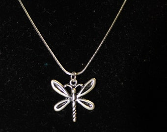 """20"""" Stainless Steel NEcklace with Dragonfly Charm"""