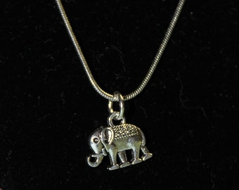 """20"""" Stainless Steel Necklace with Elephant Charm"""