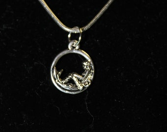 """20"""" Stainless Steel NEcklace with Mermaid Charm"""